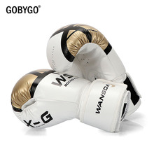 лучшая цена GOBYGO Kick Boxing Gloves for Men Women PU Karate Muay Thai Guantes De Boxeo Free Fight MMA Sanda Training Adults Kids Equipment