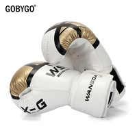 GOBYGO Kick Boxing Handschuhe für Männer Frauen PU Karate Muay Thai Guantes De Boxeo Freies Kampf MMA Sanda Training Erwachsene kinder Ausrüstung