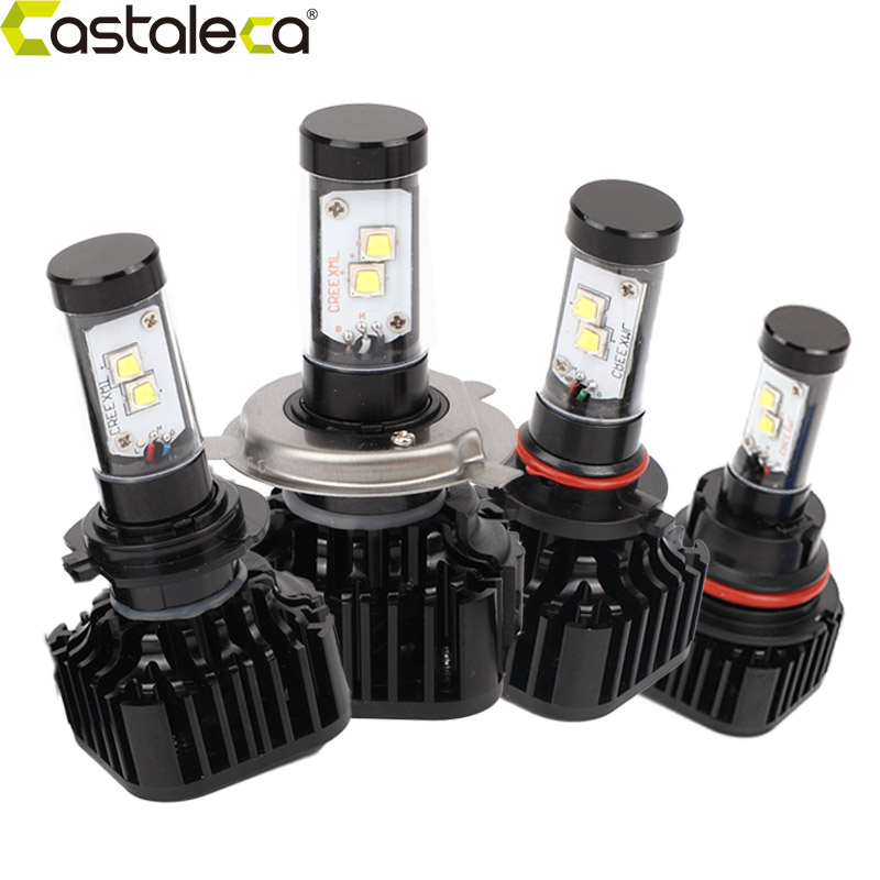 Castaleca 9004 9007 H13 H4 H7 9005 9006 H11 Led Car Headlight Kit 80W 8000LM 6000K Auto Headlamp Set car headlight led h4 h7 h11 72w 8000lm 6000k led h1 h3 h13 9005 9006 9004 880 9007 auto cob bulb automobiles headlamp car light