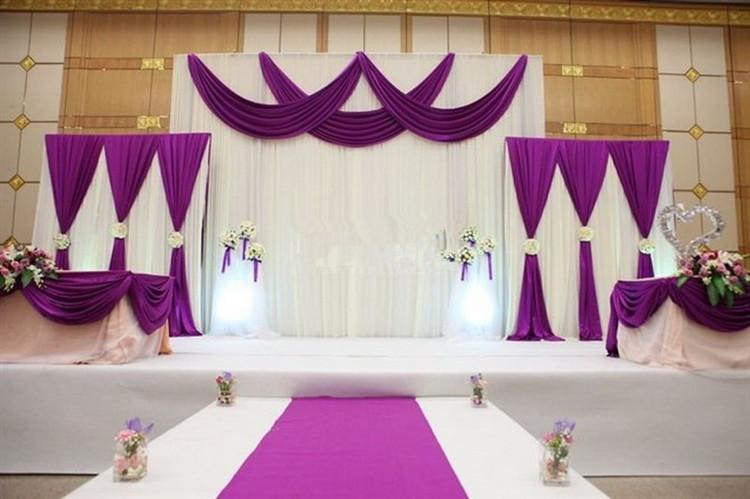 3pcs Lot 1pcs 4 3m 2pcs 2 2m White And Blue Wedding Stage Backdrop Decorations Curtains For In Party Backdrops From Home