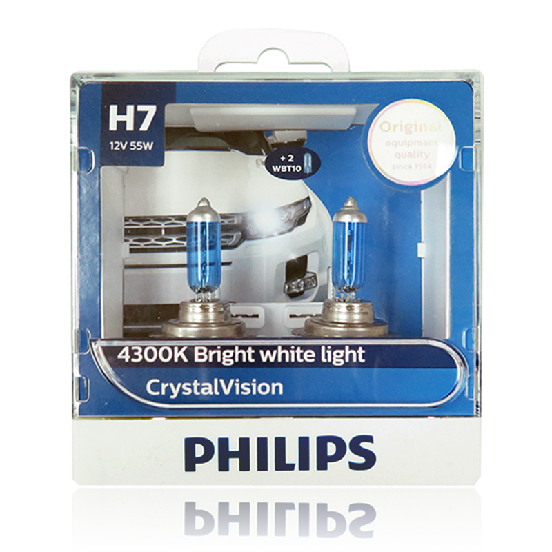 philips h7 4300k 12v 55w crystal vision bulb headlight fit fog lampchina mainland - Lampe Philips Color