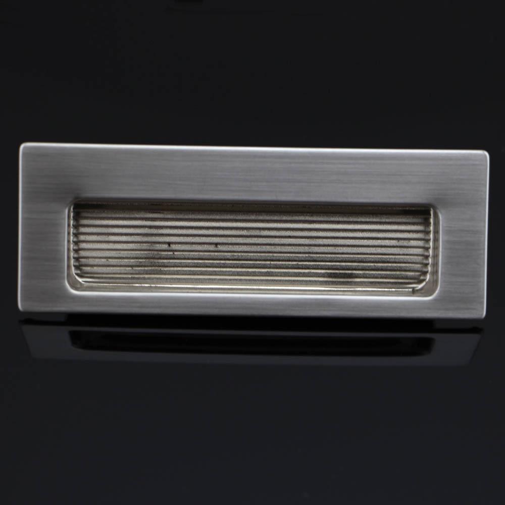 ᗔ1 piezas 115x42mm puerta del gabinete rectangular de acero ...