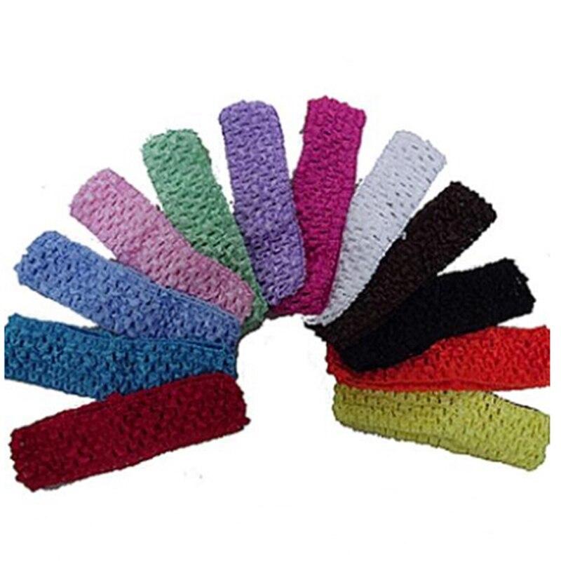 Hot Sale 12Pcs/Set Cute Crochet Headbands Hair Head Band Bow Kid Girl Headwear Accessories Random Color Free Shipping 10pcs sweet diy boutique bow headbands elastic head band children girl hair accessories headwear wholesale