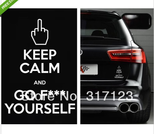 Pcs Lot Wholesale KEEP CALM Funny Sticker Vinyl Decal For - Honda decal stickers for cars