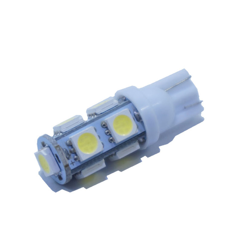 2 pieces X T10 9 SMD White 5050 Car 194 168 192 W5W Light Automobile Bulbs Lamp Wedge Interior 12V LED Light White 7 Color