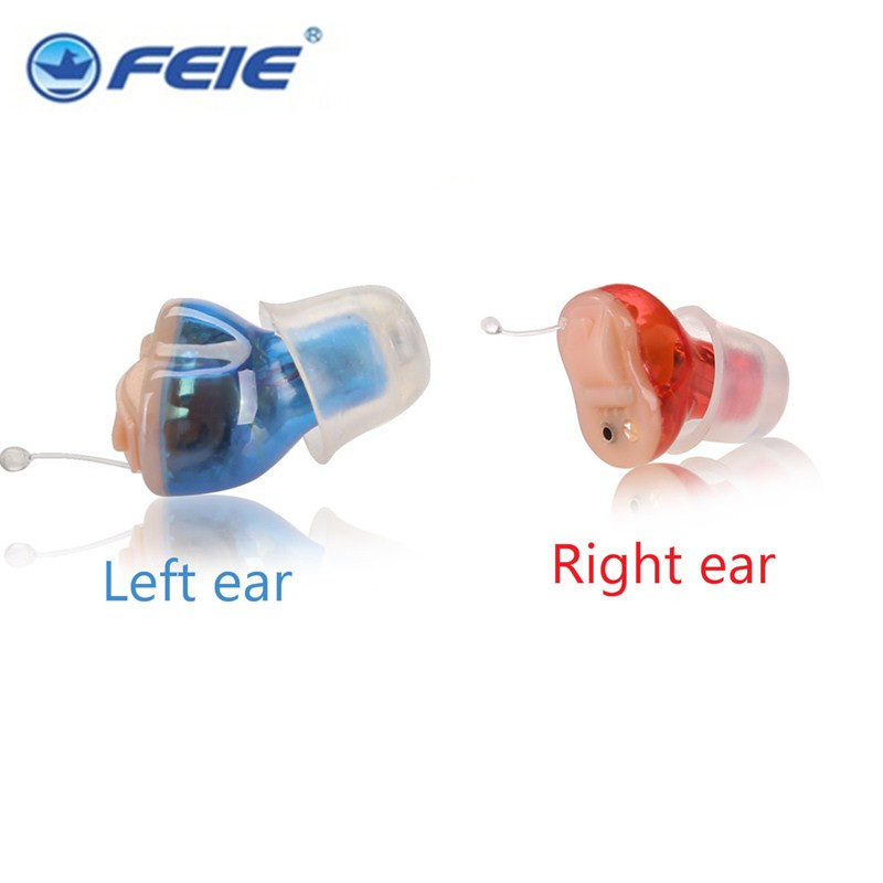A pair of audifonos para sordos device hearing hidden ear machine S-15A best selling products in 2016   Drop Shipping digital amplifeir adjust super mini hearing aides invisible audifonos sordos s 15a in ear retail on aliexpress