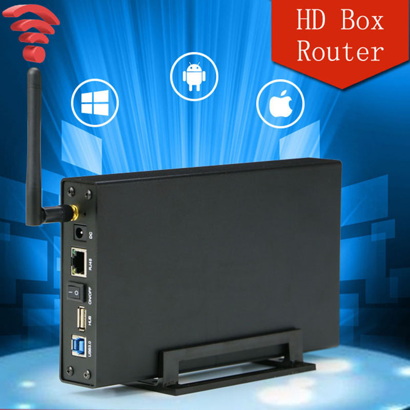 2.5'' 3.5'' USB 3.0 to SATA Wifi HDD docking station 5Gbps HDD Enclosure Case Support 6TB Hard Disk Wireless Wifi router wireless external hard disk box 2 5 3 5 inch usb 3 sd tf enclosure to sata case 6tb adapter hdd ssd with wifi network