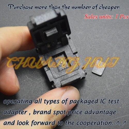 IC TEST 08TN13S18060-D test socket Flip test seat QFN8 DFN8 UDFN8 MLF8 WSON8 IC SOCKET Pitch=1.27mm Size=8x6mm