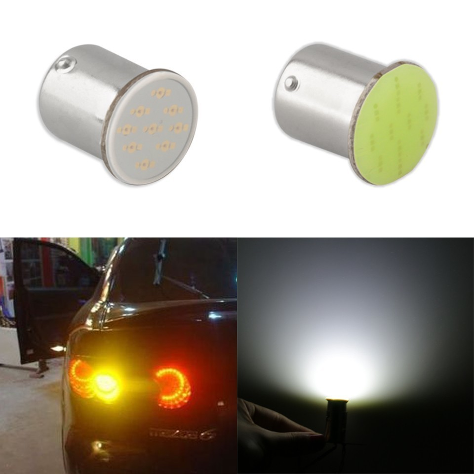 Ba15s Cob P21w LED 12 SMD 1156 12V LED Bulbs RV Trailer Truck Interior Lamp 1073 Parking Auto Car Light Hot Sale Super White auto car styling 4x cob p21w led 12smd 1156 ba15s truck strobe led fog lights hid error free car side wedge car styling jul 19
