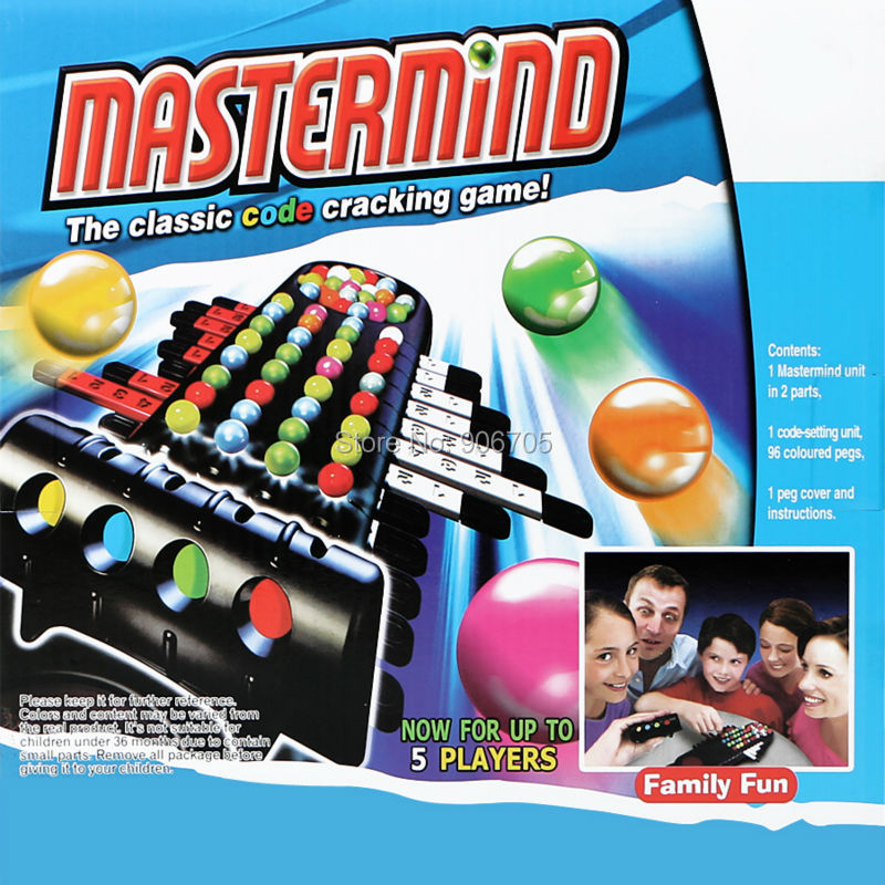 inteligent Mastermind Cod clasic Cracking Joc amuzant Game Board Interactive Game Educational Toys, Up to 5 Flayers