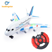 LeadingStar Hot A380 Creative Funny Children Electric Remote Control Airplan Kids Outdoor Playing Super Lightweight Airplane