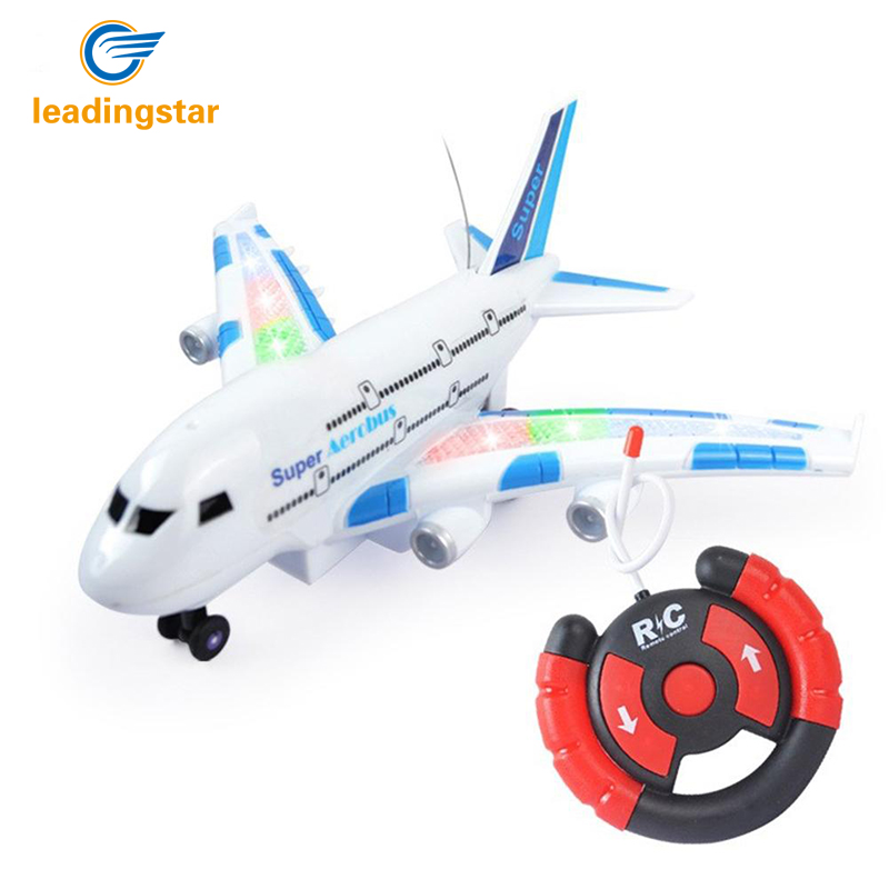 LeadingStar Hot A380 Creative Funny Children Electric Remote Control Airplance Kids Outdoor Playing Super Lightweight Airplane