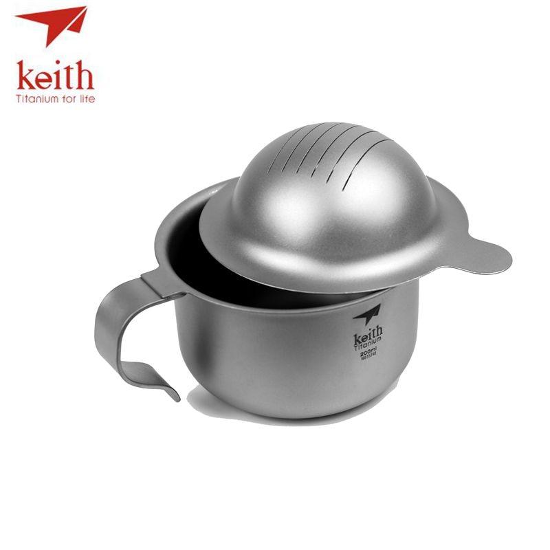 Keith Titanium 12 pièces en 1 chinois KongFu thé Set crépine Portable en plein air Camping tasse Drinkware ultraléger 1.5L 522g Ti3930 - 4