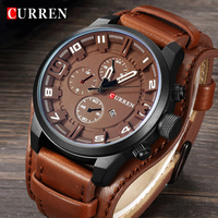 Curren Top Brand Luxury Men Watches Man Clock Male Retro Leather Army Military Sport Quartz Watch
