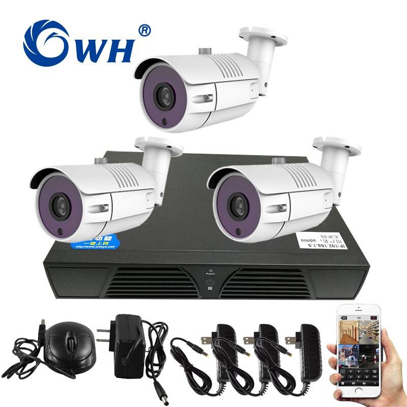 CWH 3CH видеонаблюдение NVR комплект Открытый безопасности Камера Системы сеть видеонаблюдения Камера s Kit IP Камера Системы открытый P2P ONVIF