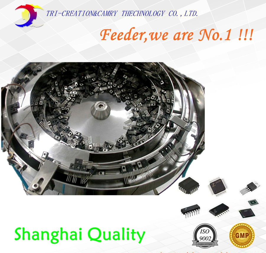 electronic chip vibratory bowl feeder/sorter,SUS304 automatic electronic part vibration bowl feeder 550mm customizable brand new smt yamaha feeder ft 8 2mm feeder used in pick and place machine