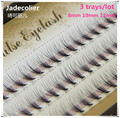 3 trays/lot(60pcs/tray) high quality 8mm 10mm 12mm individual lashes beauty makeup professional natural long eyelash extension