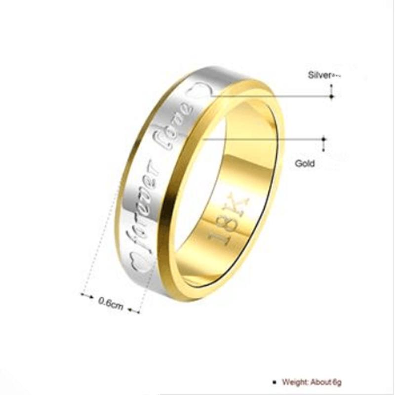 Classic Ring Titanium Steel Wedding Rings for Men And woman High Quality Jz115