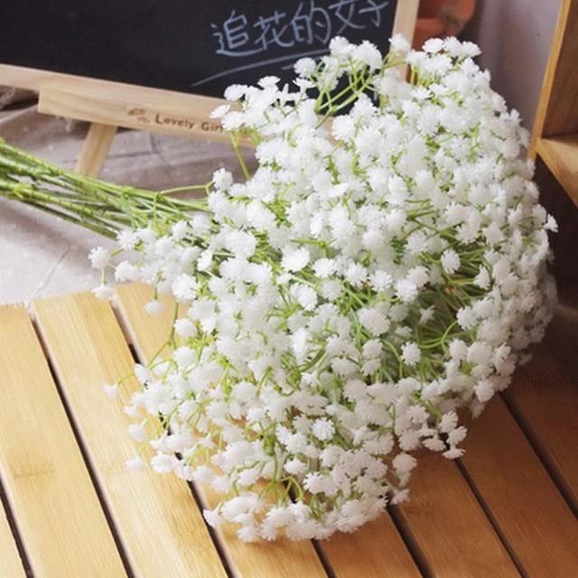 DIY для создания искусственных цветов филиал Гипсофилы цветок Гипсофила силикон fake завод, украшение для свадьбы, дома, отеля, вечерние украшения 7A0145