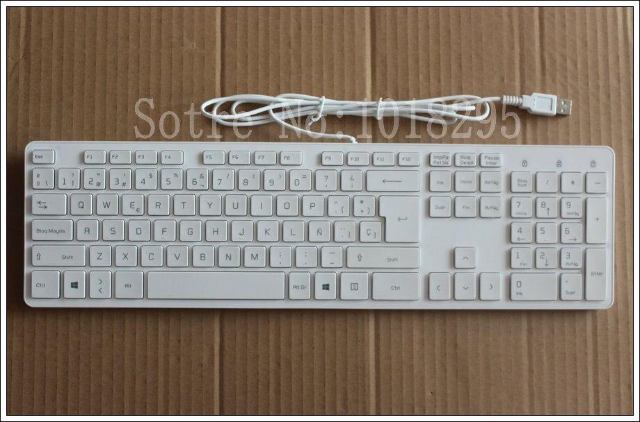 NEW Spanish Latin keyboard for LG KB1430 5V-100mA genuine original USB wired keyboard white desktop keyboard