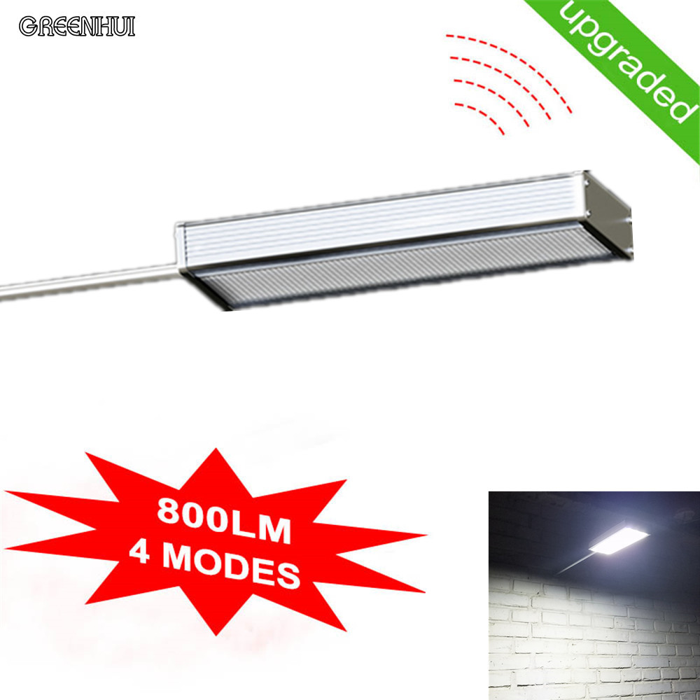 cheap 4Modes highlight 48LED solar led light Microwave radar sensor Outdoor Path Wall Emergency Lamp Security Spot Light Luminaria pic,image LED lamps deals