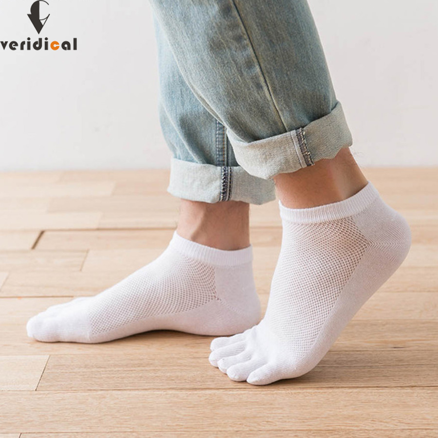 1 Pair New Autumn Winter Warm Sock Unisx Style Men Women Five Finger Pure Cotton Sock 6 Colors Accessories 2019 Official Men's Socks