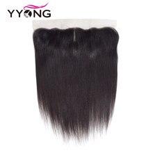 Perruque Lace Frontal Closure brésilienne Remy – Yyong Hair, cheveux lisses, 13*4, oreille à oreille, libre/centrale/trois parties, Swiss Lace Closure, livraison gratuite