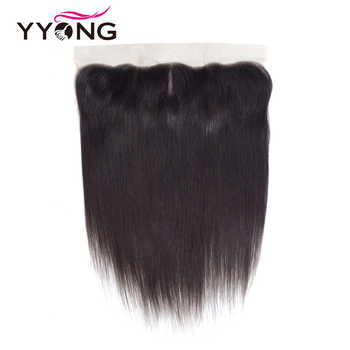 Yyong Hair Brazilian Straight Lace Frontal Closure 13*4 Ear To Ear Free/Middle/Three Part Swiss Lace Closure Remy Free Shipping - DISCOUNT ITEM  48% OFF All Category
