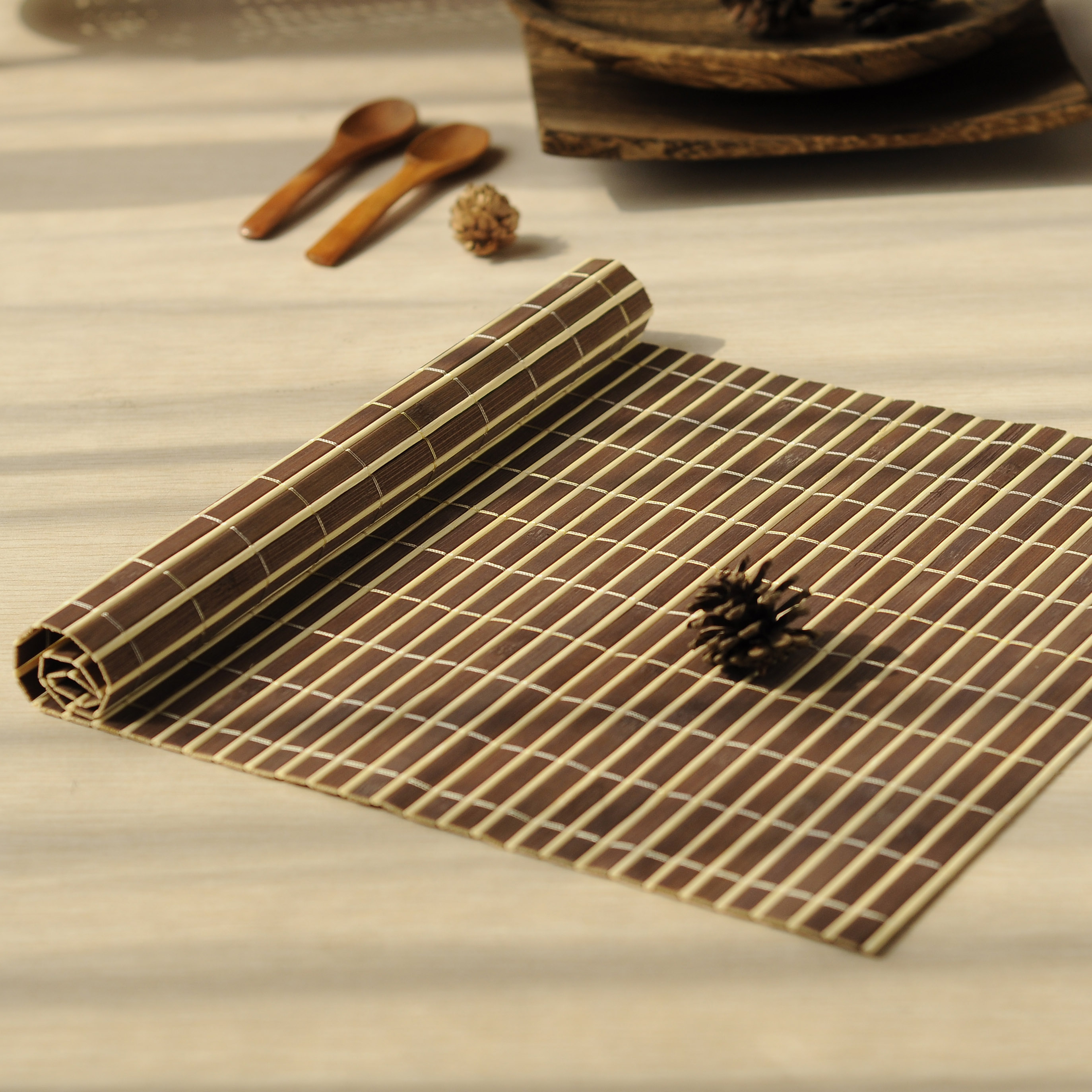online get cheap bamboo placemats aliexpresscom  alibaba group - pcs bamboo placemats heat resistent table placemat tableware padwaterproof coffee tea mat home decoration tea