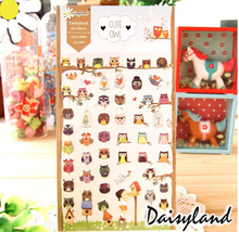 Cute Eco-Friend Owl Decorative Washi Stickers Scrapbooking Stick Label Diary Stationery Album Stickers