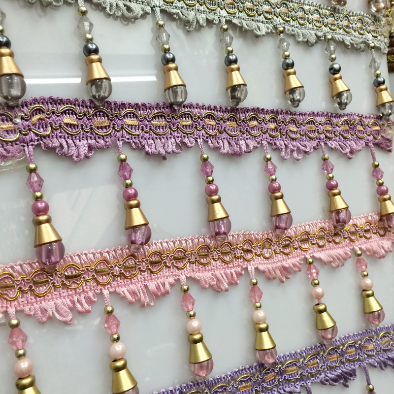 9cmx1200cm/pcs Beads lace curtains tassel beads hanging ear curtains hanging beads lace curtain accessories