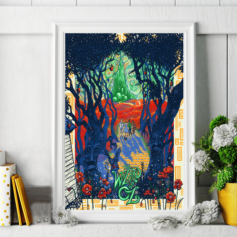 The Wizard Of Oz Classic Movie Artwork Cover Poster Paintings On Canvas Modern Art Decorative Wall Pictures Home Decoration in Painting Calligraphy from Home Garden