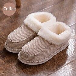 Suihyung/зимняя теплая Домашняя обувь из хлопка, плюшевые домашние тапочки унисекс в полоску, домашние тапочки для влюбленных, домашние тапочки...