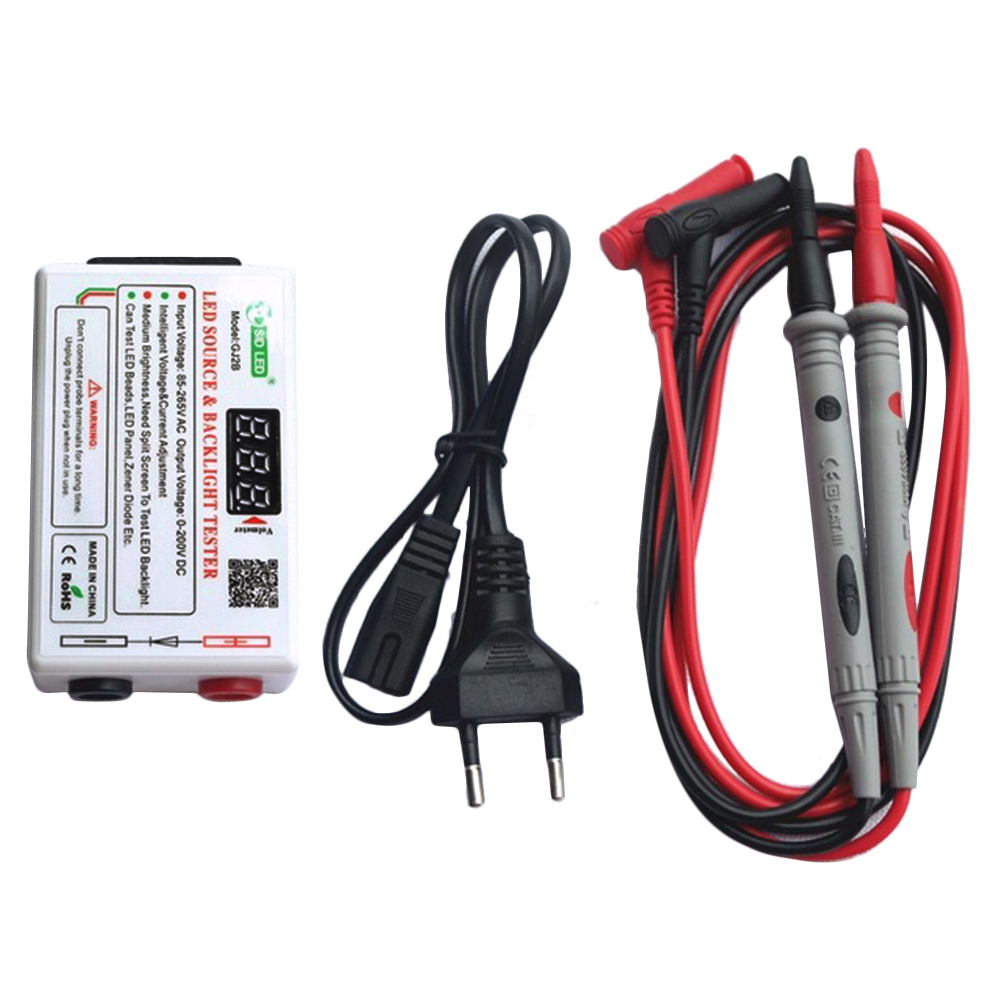 Voltage Test Led Backlight Tester Tool Screen Lcd Zener Diode 1 Pair Probe Eu Plug Power Cord Us User Manual