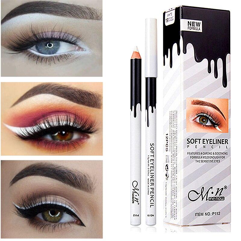 2018 New High Qualtiy Waterproof White Eyeliner Pencil Long-lasting Eyes Contur Eye Liner Makeup Eyes Cosmetic Eyeliner Pen