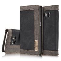 Для samsung S6 S7 S8 S9 случае S6 S7 край флип основа роскошный автоматический адсорбировать кронштейн джинсовой телефон чехол для Galaxy S8 S9 плюс Coque