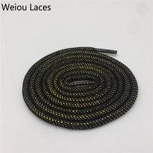 Weiou круглые шнурки блестящие черные золотые серебряные шнурки Заказные металлические шнурки крутые блестящие шнурки