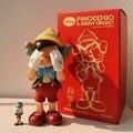 Alta Calidad Original Fake KAWS Pinocho Marioneta StandingType 25 cm Viny Resina de Pvc Figuras de Acción Juguetes de Moda
