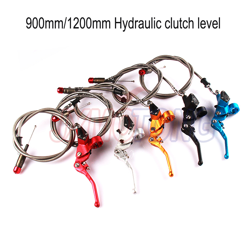 Hydraulic clutch level master cylinder 1200mm fit Motorcycle Dirt bike Pit Bike 125cc-250cc Vertical Engine motorcycle rear hydraulic brake master cylinder pump for 50cc 70cc 110cc 125cc 150cc 250cc thumpstar atv pit pro dirt bike