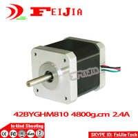 1 pièces Nema17 0.9 degré Moteur pas à pas 42BYGHM810 4800g. cm 48mm 2.4A D'OIN de la CE ROHS 3D Imprimante Reprap Robot CNC