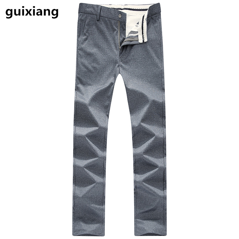 2017 new style Mens casual fashion casual pants 100% cotton Trousers Men high quality leisure business pants big size 29-38 ...
