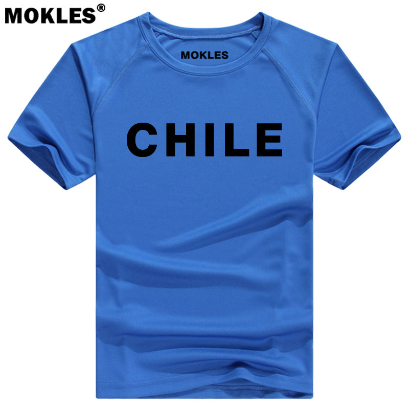 CHILE t shirt diy free custom made name number chl t-shirt nation flag cl chilean spanish black gray college print photo clothes