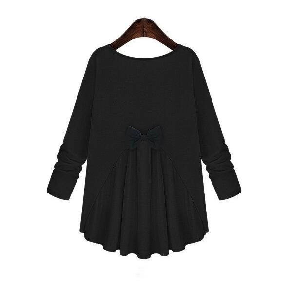 L-5XL Plus Size Shirts Maternity Blouse Long-sleeved Bow Tops Pregnancy Clothes For Pregnant Women Clothing Spring Autum