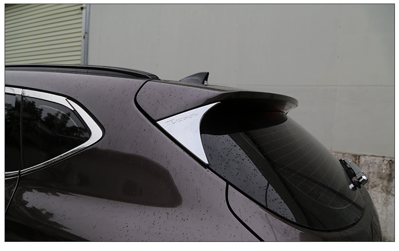 Image 3 - ABS Car Rear Spoiler Conner Rear Door cover Decorative Trims For  Hyundai Tucson 2015 2016 2017 2018 Accessories-in Chromium Styling from Automobiles & Motorcycles