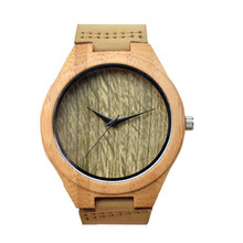 YUELANSHI Wood watch  Hot Sell Men Women Fashion Wooden Watches with Genuine Leather Luxury Quartz WristWatch Gifts