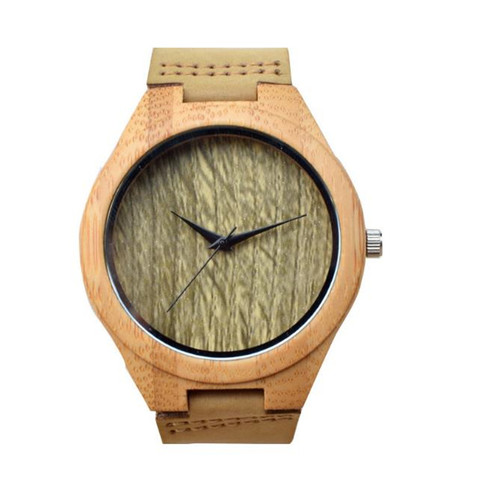 YUELANSHI Wood watch  Hot Sell Men Women Fashion Wooden Watches with Genuine Leather Luxury Quartz WristWatch Gifts Pakistan