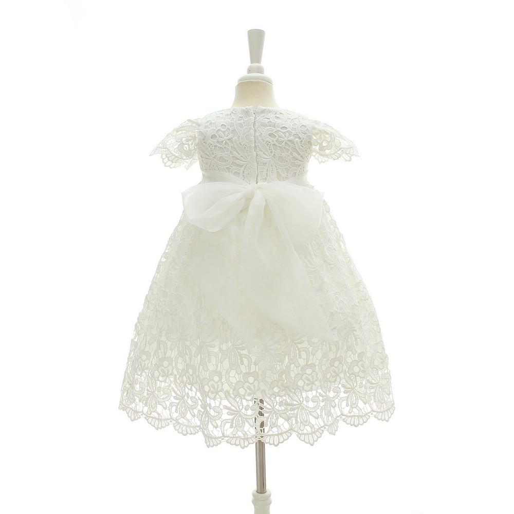 baby christening dress white lace newborn baby baptism dress ball ...