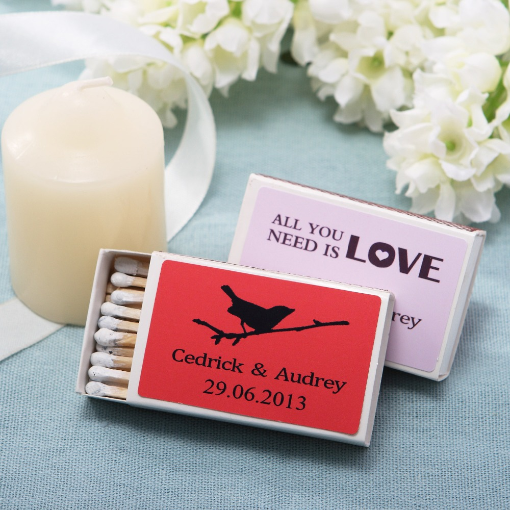 Wedding Personalized Favors popular personalized party souvenirs buy cheap free shipping 12pcslot matchboxes wedding favors and gifts wedding