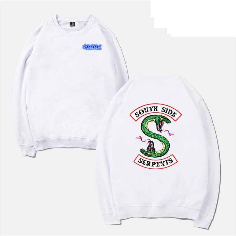Black Sweatshirt Women Tracksuit Riverdale Hooded Long-sleeved Pullover Hoodies Casual O Neck Oversized Hoody Cotton Fleece Tops