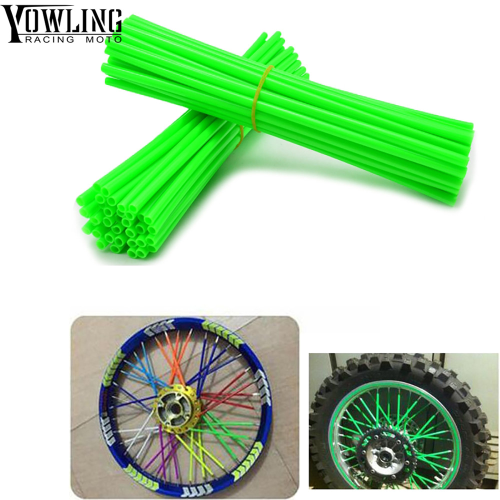 36Pcs Wheel RIM Spoke Skins Sticker cover Accessories Motocross Dirt Bike For Kawasaki <font><b>KX250F</b></font> KX450F KX500 KX60 KX65 KX80 KX85 image